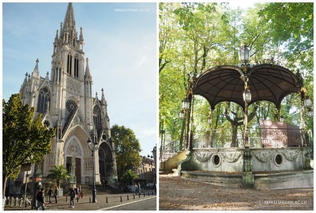 Eglise Sainte Epvre et le kiosque du Parc de la pepiniere
