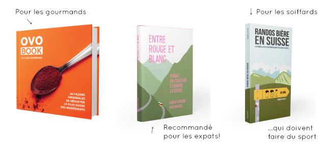Idees de cadeaux Noel Livres suisses