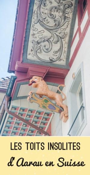 Insolite: Les toits peints de la ville suisse d'Aarau!