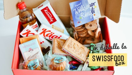 Déballage de la Swiss food box sur le blog - vie d'expat