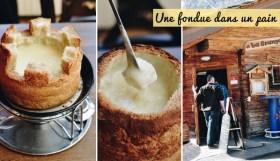 Insolite et typiquement suisse: la fondue... dans un pain à la place du caquelon!