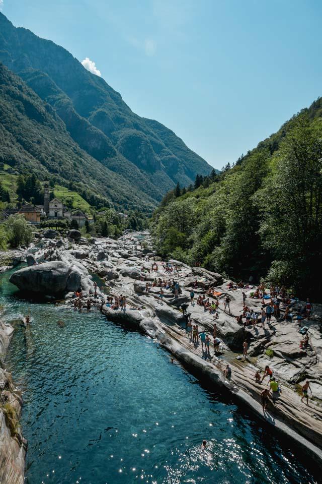 Lavertezzo au Val Verzasca au Tessin (Suisse)