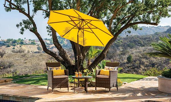 how to clean a sunbrella patio umbrella