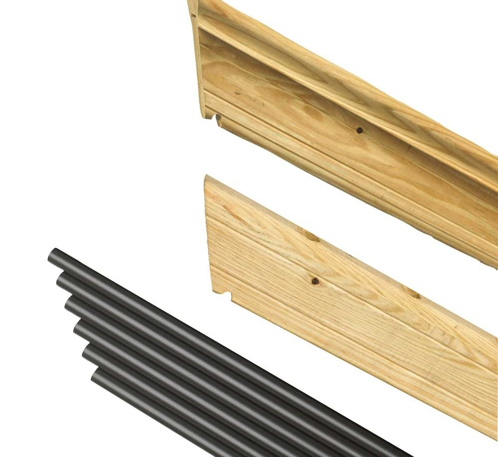 Pressure Treated Wood Outdoor Stair Railing Kit Yard Home   Pressure Treated Stair Handrail   Basic Deck   Deck Rail   Cedar   Guard   Concrete Step