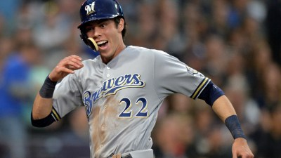 Christian Yelich to miss game with oblique stiffness ...