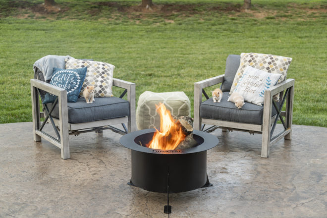 the baron steel fire pit