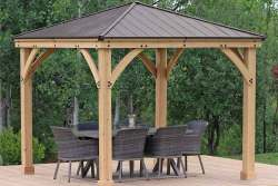 Yardsitry Meridian Gazebo 10x10ft (3m) with Aluminium Roof