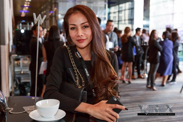 Beautiful Businesswoman at a Bangkok Conference AMD