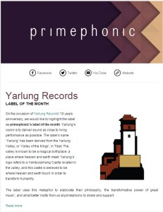 primephonic names Yarlung Records