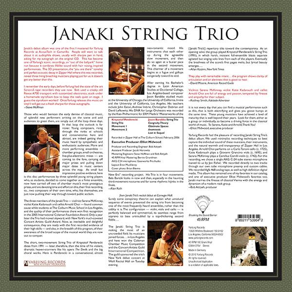 Janaki String Trio Vol 1