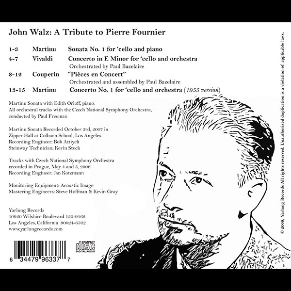 John Walz CD | Pierre Fournier