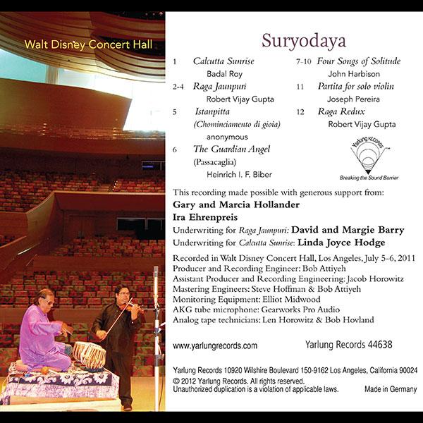 Robert Gupta | Suryodaya | Violin