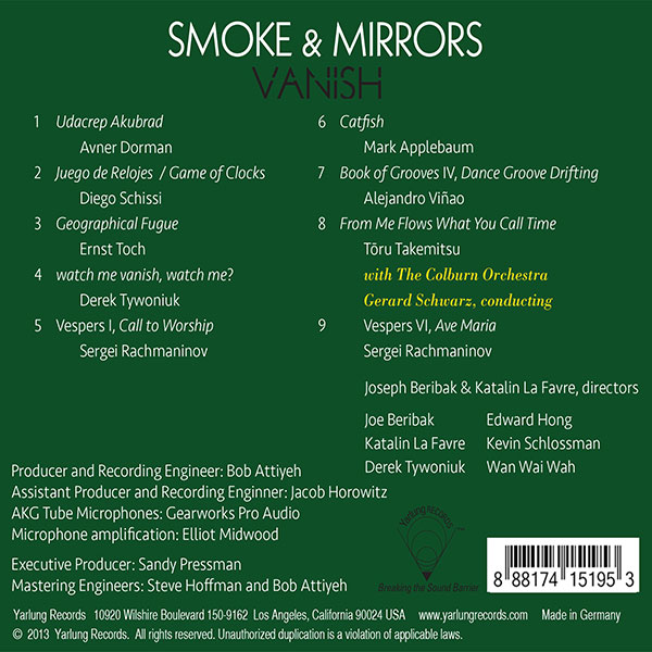 Smoke & Mirrors Percussion Ensemble Vanish