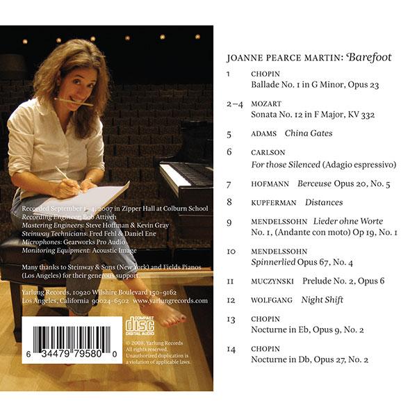Joane Pearce Martin Barefoot CD   Yarlung Records