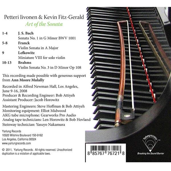 Petteri Iivonen | Kevin Fitz-Gerald Art of the Sonata CD
