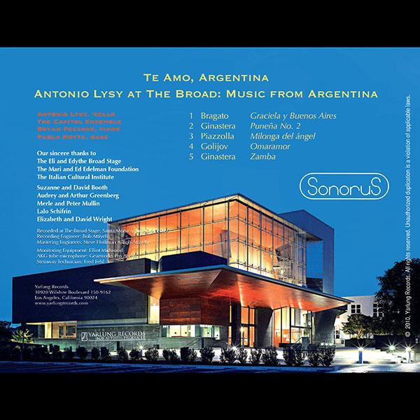 Antonio Lysy | Te Amo Argentina | Sonorus