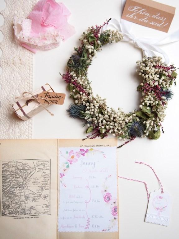 Ablaufplan, Hochzeit, Hochzeitstag, Ablauf, Blumen, basteln, DIY, Reisen, Vintage, Atlantenpapier, Blumen, Freudentränen