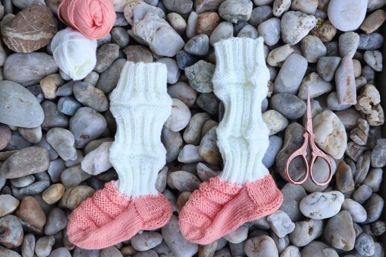 finnische Zugsocken, Babysocken stricken