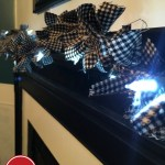 An Easy DIY Craft to Decorate Your Mantle This Holiday Season: A Lighted Flannel Garland