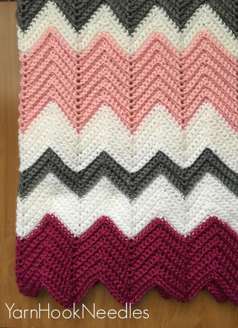Modern Crochet Chevron Blanket With Free Pattern