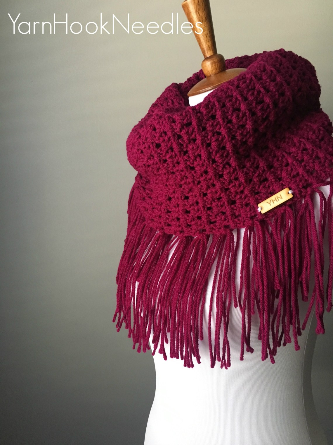 Maker Monday Crochet Fringe Infinity Scarf With Buyable Pattern