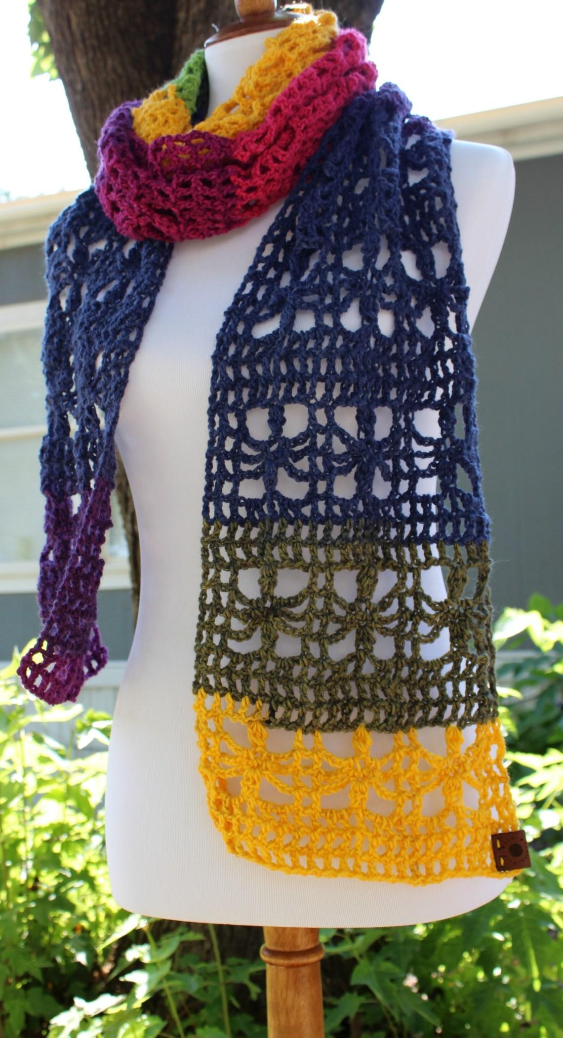 The Webster Mandala Scarf Free Crochet Pattern Uk Terms