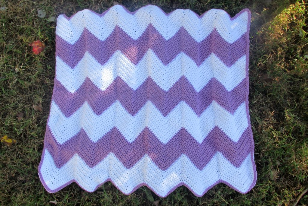The Best Beginner Crochet Chevron Blanket Free Pattern