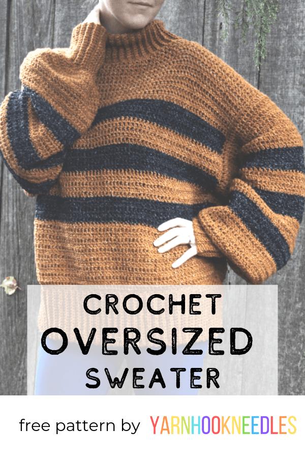 crochet oversized sweater