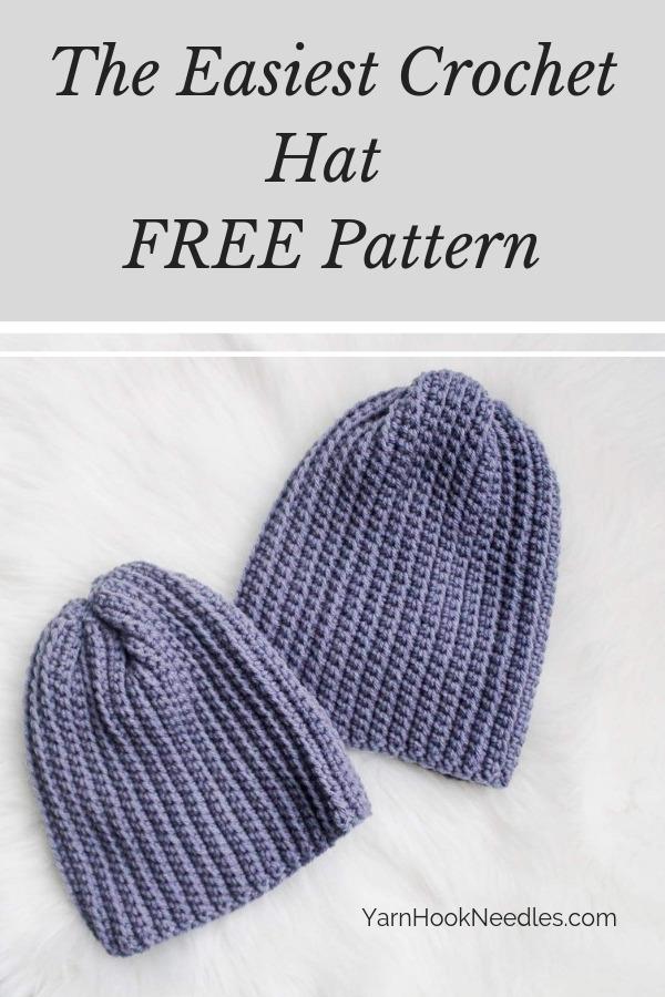 Easy Crochet Beanie Pattern Free Yarnhookneedles