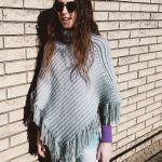 knit look crochet poncho