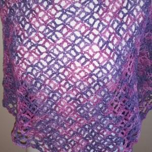Violets Crochet Shawl