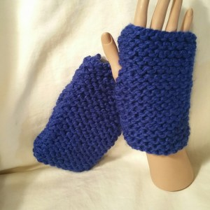 Royal Blue Fingerless Mitts