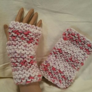 Strawberry Mist Fingerless Mitts