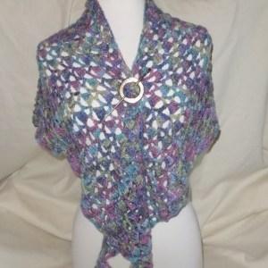 Kaleidoscope Crochet Shawlette