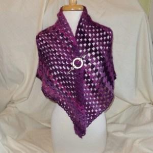 Passion Plummy Crochet Shawl