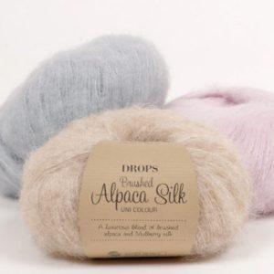drops brused alapaca silk
