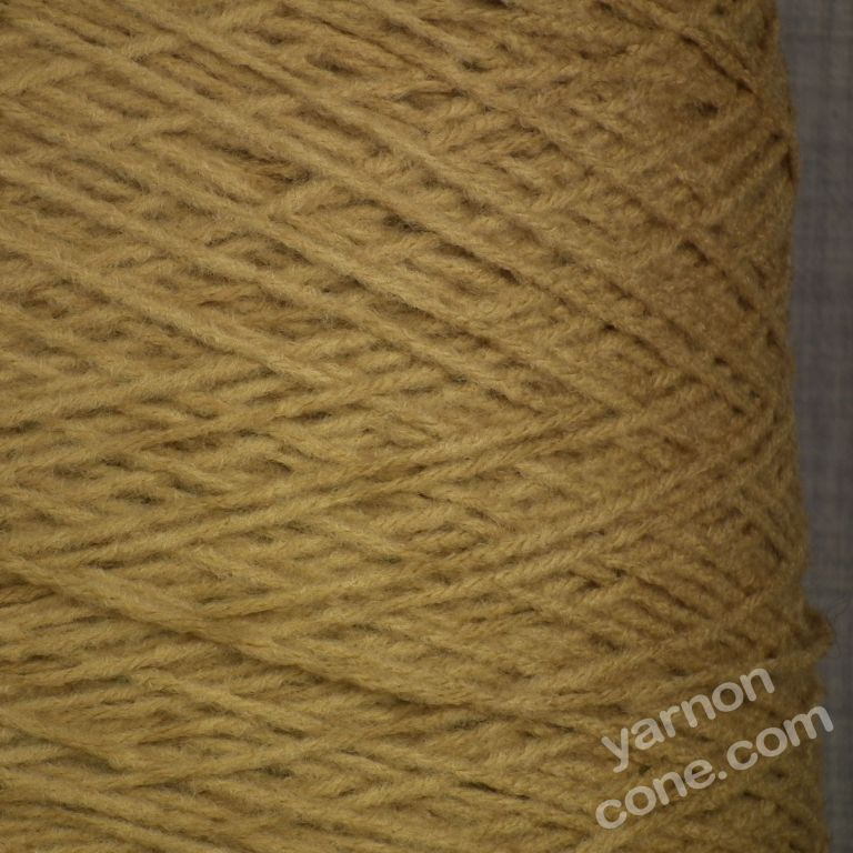 soft quality 4 ply dk double knitting wool blend knitting yarn on cone old gold brown