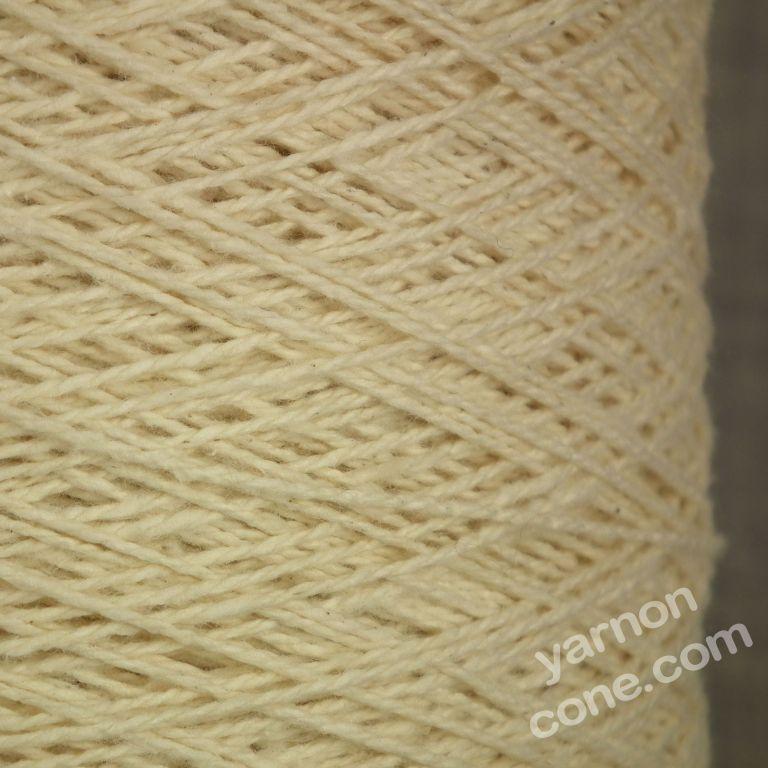 Ecru undyed natural pure 100% cotton weaving twist yarn on cone