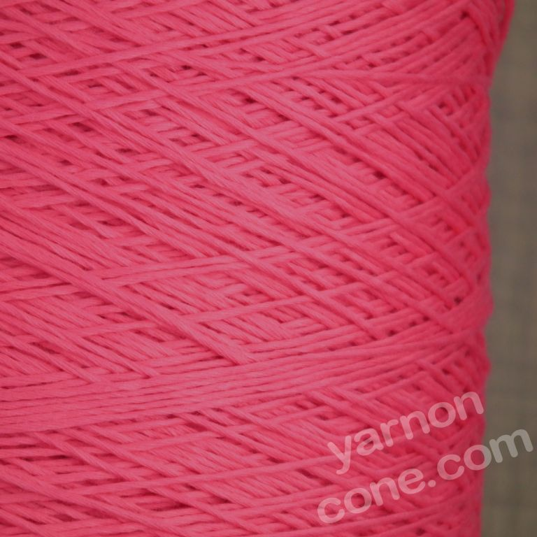 4 ply Italian pure cotton yarn candy pink bright
