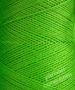 Jura weaving wool 4 ply yarn cone lime green
