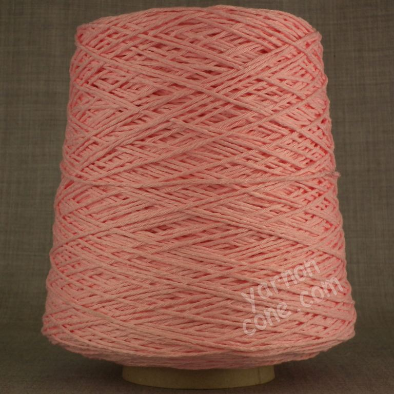 Double knitting DK soft pure cotton yarn on cone hand machine knitting weaving crochet baby pink