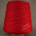 Double knitting DK soft pure cotton yarn on cone hand machine knitting weaving crochet red