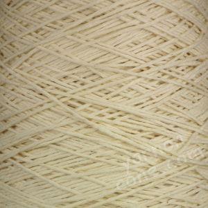 Double knitting DK soft pure cotton yarn on cone hand machine knitting weaving crochet cream