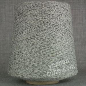 Shetland pure wool on cone hand machine knitting yarn 3 4 ply silver grey