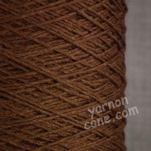 soft 4 ply merino silk pure luxury hand machine knitting yarn on cone chocolate brown