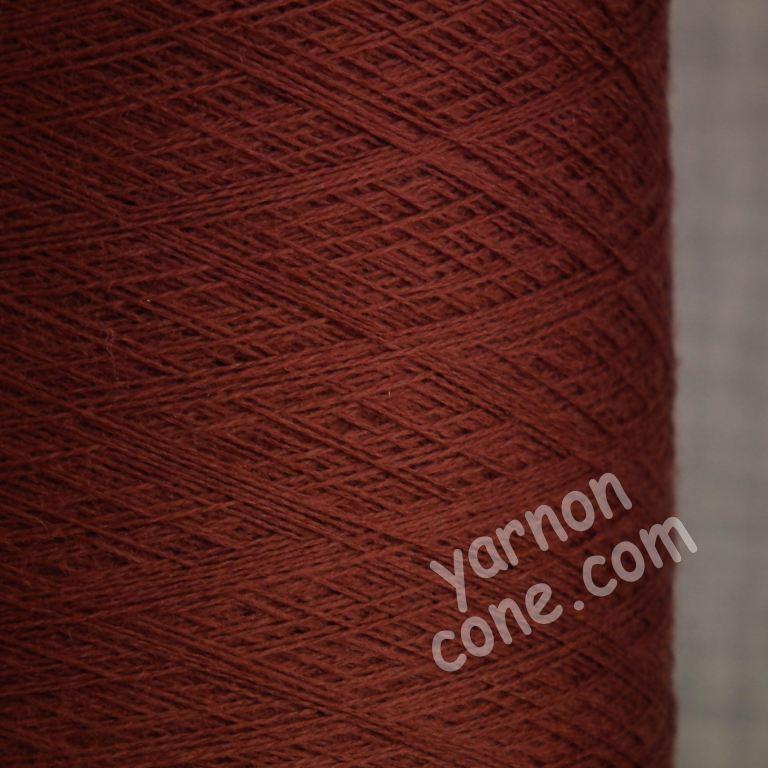 2/60NM extra fine merino wool knitting yarn on cone cobweb weight sienna brown