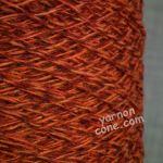 Shetland weaving wool nylon 80 20 2/9 NM fiery tweed red orange marl yarn on cone uk