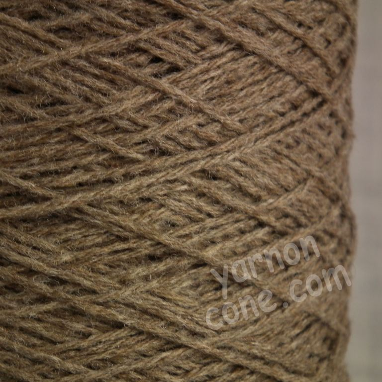 cashmere merino wool soft yarn on cone knitting italian quality 4 ply taupe brown