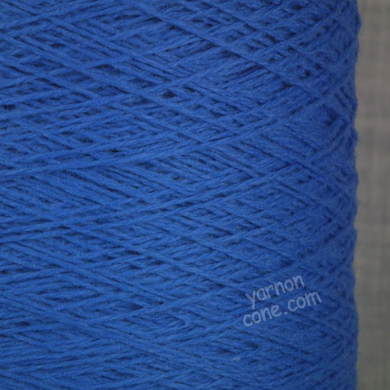 soft cashmere merino 3 ply yarn on cone wool hand machine knitting UK cobalt blue