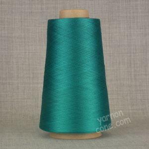 Pure silk cobweb yarn 2/120 NM italian 2/120NM on cone weaving knitting teal blue green